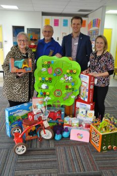 Banyule-Community-Health-donation-of-books-and-toys