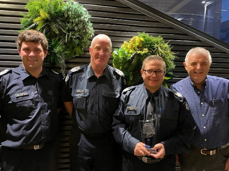 Sergeant Con Matsamakis, Ian Bushby, Snr Sergeants Tim Cummings and Lindsay Cook