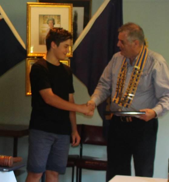Damian Barbanera with Ian Bushby for the Ralph Ragazzon Award