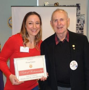 Fiona Kriaris pride of workmanship award