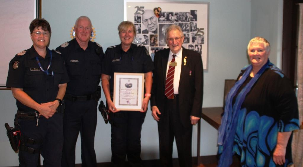 Peter Toomey Police Officer of the year award